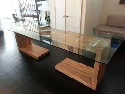 custom made glass for dining table best of custom made glass top dining and side table