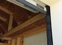 garage door header seal ideas