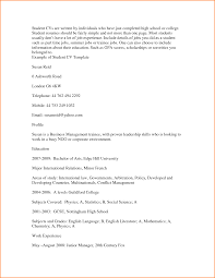 Cover Letter Template For Student Resume Format For Student Resume