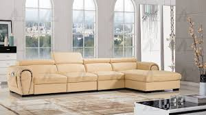 yellow faux leather sectiona