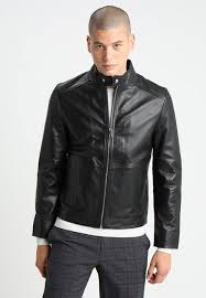 tommy hilfiger tailored the carryover matt leather jacket black men s flap pockets jackets mandarin collar zip 100 leather f2y3hgya prevnext