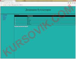 Домашняя бухгалтерия Курсовая работа на php Программа и  домашняя бухгалтерия