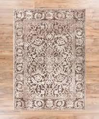 yorkshire brown modern sarouk distressed area rug