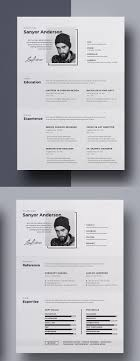Free Resume Templates Creative Market Graphicriver Etsy