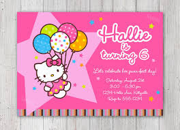 Hello Kitty Printable Birthday Card Psauve Info