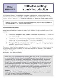 how to write a reflective essay with sample essays  academic  reflective writing is thus more personal than other kinds of academic writing we all think