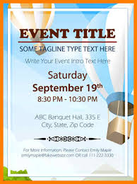 8 Event Poster Template Microsoft Word Business Opportunity Program