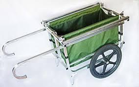 folding garden cart. Mega Hauler-Residential Green Marine Garden Folding Utility Cart, Aluminum, USA Made Cart