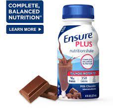 ensure plus nutrition chocolate shake