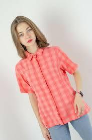 MAMMUT Women's <b>Peach</b> Checked <b>Short Sleeved</b> Outdoor Shirt ...