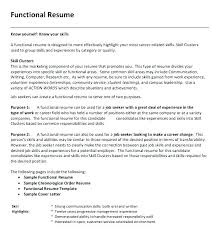 Resume Tips For Career Change Combination Resume Format Template Samples Of Functional Resume