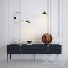 serge mouille rotating sconce two arms console