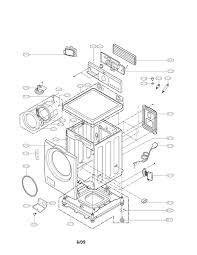Lg front load washer parts diagram model wm cw sears partsdirect
