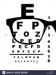 Eye Charts For Eye Exams Eye Test Chart Black And White Stock Photos Images Alamy