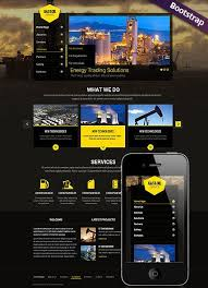 professional webtemplate gas and oil website template mobile responsive website