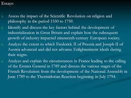 essays assess the impact of the scientific revolution on religion  1 essays