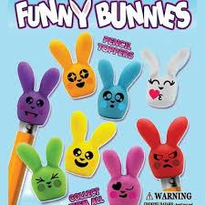 Funny bunny face vector art. Funny Bunny Pencil Top Erasers 1 Capsules Gumballs Com