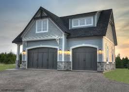 doorblack garage doors grey house