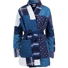 Kings of Indigo Shotoku quilted Kimono Jacket ($379) ❤ liked on ... & Kings of Indigo Shotoku quilted Kimono Jacket ($379) ❤ liked on Polyvore  featuring outerwear Adamdwight.com