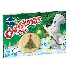 pillsbury christmas tree sugar cookies. Pillsbury Ready To Bake Christmas Tree Shape Sugar Cookie Dough 11 Oz Intended Cookies Walmart