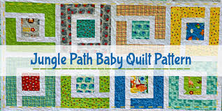 10 FREE Charm Pack Quilt Patterns - Easy Quilt Patterns! & Jungle Path. Jungle Path Baby Quilt Pattern Adamdwight.com