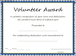 Sample Volunteer Certificate Template Volunteer certificate template helpful screnshoots and award 1