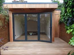 garden office with storage. Outdoor Office In London With Integral Storage And Cedar Cladding Garden Office