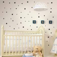 stars pattern vinyl wall art decals nursery room decoration wall stickers for kids rooms home decor