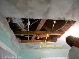 repair a hole in your ceiling drywall