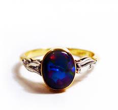 1950s black opal ring