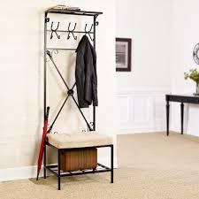 Free Standing Coat Rack With Bench Wardrobe Racks marvellous free standing coat rack with shelf Modern 4