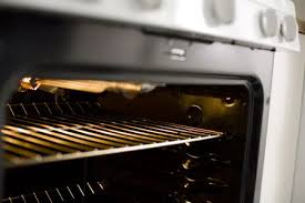 grill inside oven close up