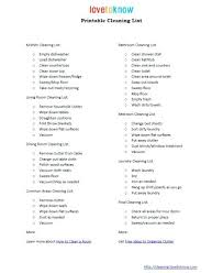 Home Cleaning Schedule Checklist – Bonniemacleod
