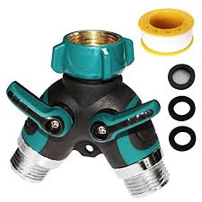 garden hose connector. Ansoon 2 Way Hose Splitter Solid Y Valve Garden Connector With Water Pipe Seal Tape