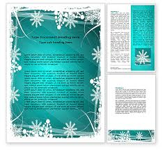 Background Templates For Word Winter Frame Background Word Template 06980