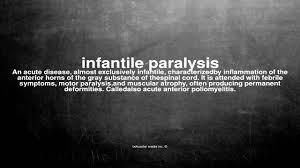 「infantile paralysis definition」の画像検索結果