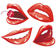 royalty free smiling lips ilrations