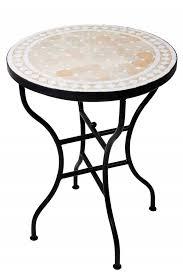 mosaic table marrakesch nature white 60cm mosaic tables mosaic dining table round table 60cm