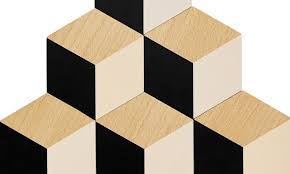 ... Detail - Areaware Table Tiles - Black / Beige