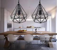 2016 art deco vintage pendant lights led lamp metal cube cage lampshade lighting hanging light fixture for ktv bart art lights pendant light