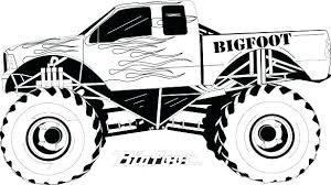 Coloring Grave Digger Monster Truck Coloring Pages Printable Jam
