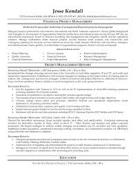 Project Manager Resume Samples Free Project Management Resume Sample