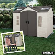 lifetime 10ft x 8ft 3 x 2 4m storage shed