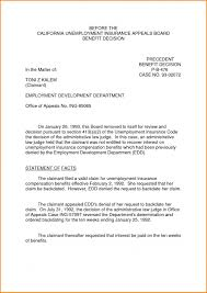 Unemployment Appeal Letter Template Beconchina