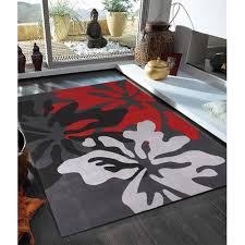 network rugs black red and grey contemporary rug