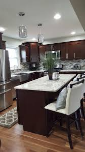Brilliant Dark Kitchen Cabinets Colors Finished River Run Shaker And Ideas
