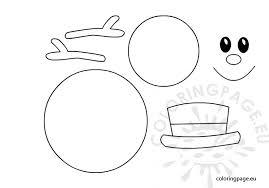 Template Of A Snowman Snowman Face Clip Art Ii72 Advancedmassagebysara