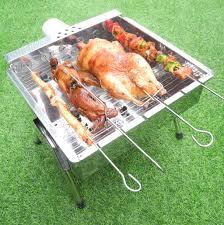 Bếp nướng than hoa V5S, quay tự động, dùng sạc dự phòng, lò quay vịt: Đa  năng, chín đều, an toàn sức khỏe, inox bền đẹp, bếp nướng tự xoay, lò nướng