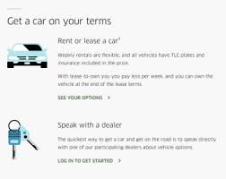Ubers Rental And Lease Programs With New York Car Dealers