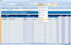 How To Make A Checkbook Register In Excel How To Create A Checkbook Register In Excel Budget